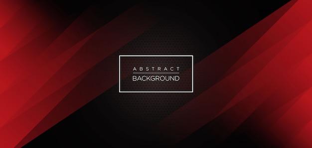 モダンな濃い赤の抽象的な背景 Premiumベクター