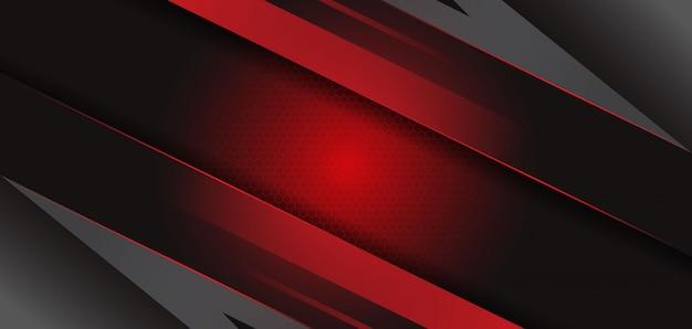 Современный абстрактный черный красный шаблон фона Premium векторы