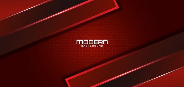 Современный темно-красный фон с абстрактной формой Premium векторы