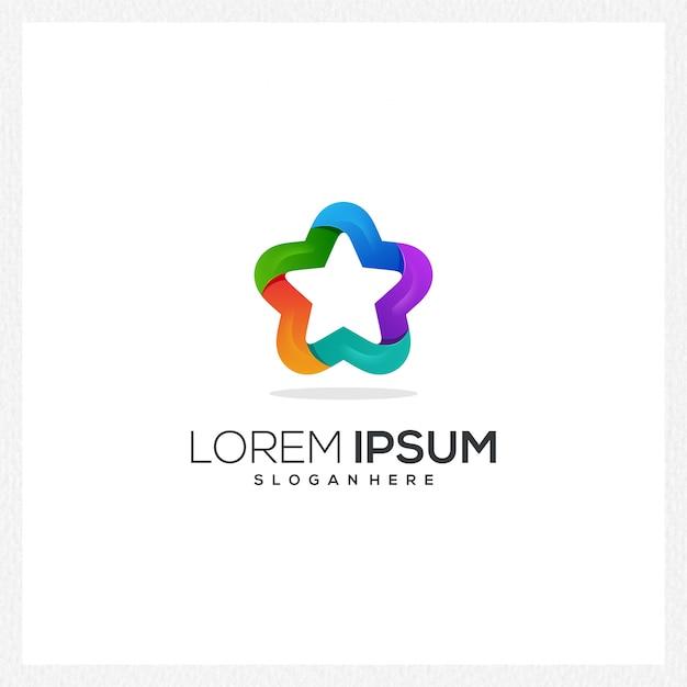 現代の星のロゴ Premiumベクター