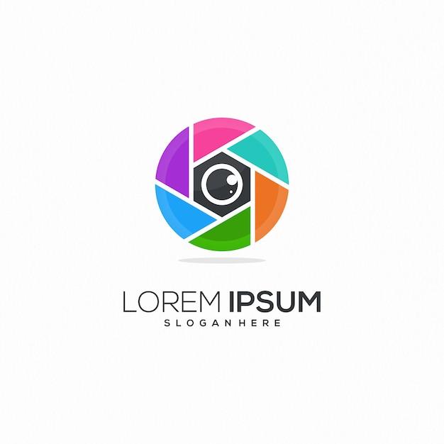 写真のロゴ Premiumベクター