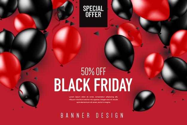 Черная пятница баннер дизайн Premium векторы