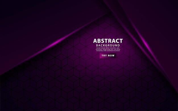 豪華な紫色のオーバーレイレイヤーの背景 Premiumベクター