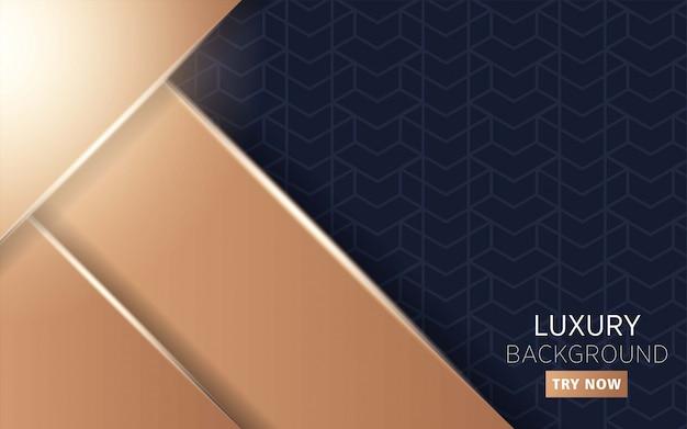 高級プレミアムモダンなダークとゴールドの抽象的な背景 Premiumベクター