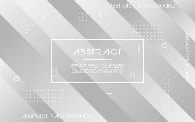 灰色の抽象的な幾何学的な背景。ベクトルイラスト。 Premiumベクター