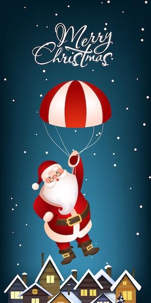 Рождественский вертикальный баннер Бесплатные векторы
