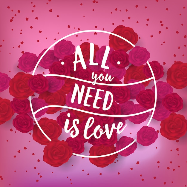 あなたが必要とするのは創造的な休日のスタンプとして愛のレタリングだけです 無料ベクター