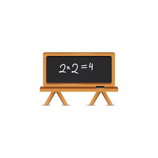 数式付きの黒板 無料ベクター