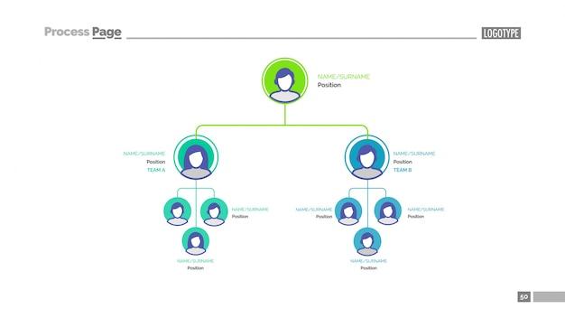 Шаблон слайдов бизнес-иерархии Бесплатные векторы