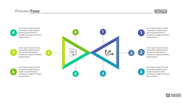 Диаграмма выбора двух треугольников Бесплатные векторы