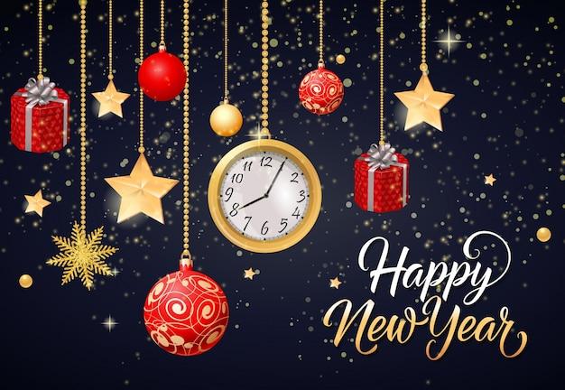 新年あけましておめでとうございます 無料ベクター