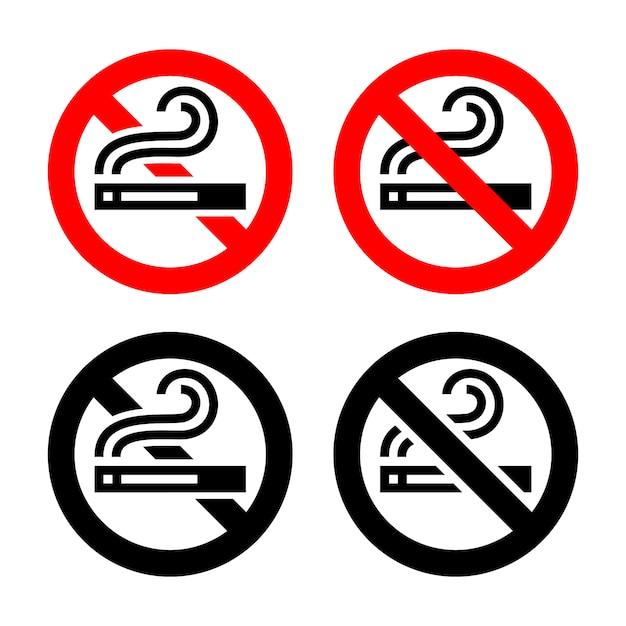 シンボルセット-禁煙 Premiumベクター