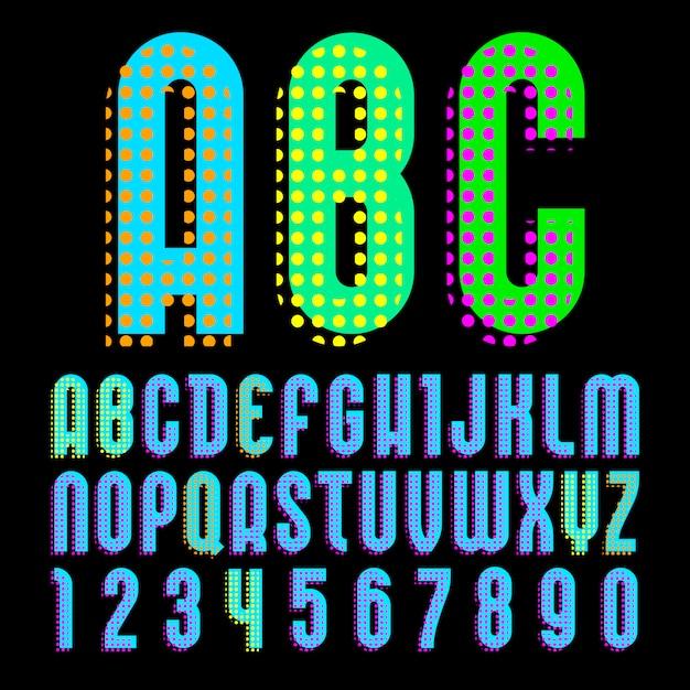 Алфавит в стиле поп-арт, Premium векторы