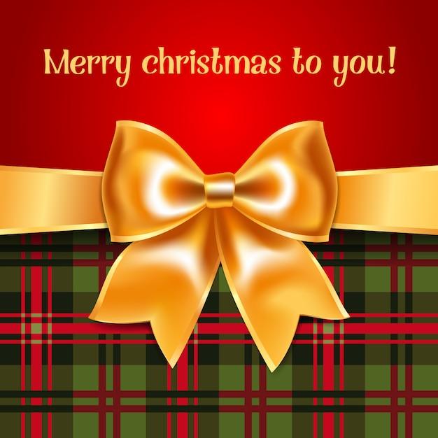 メリークリスマスのグリーティングカード Premiumベクター