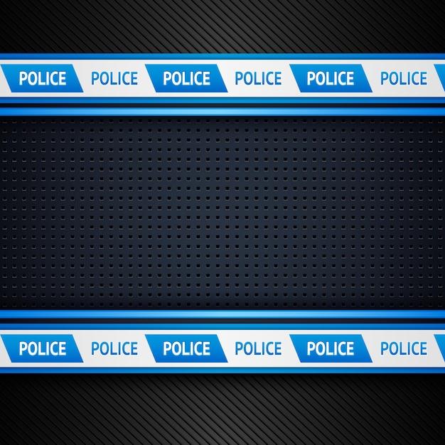 金属穴あき警察の背景 Premiumベクター