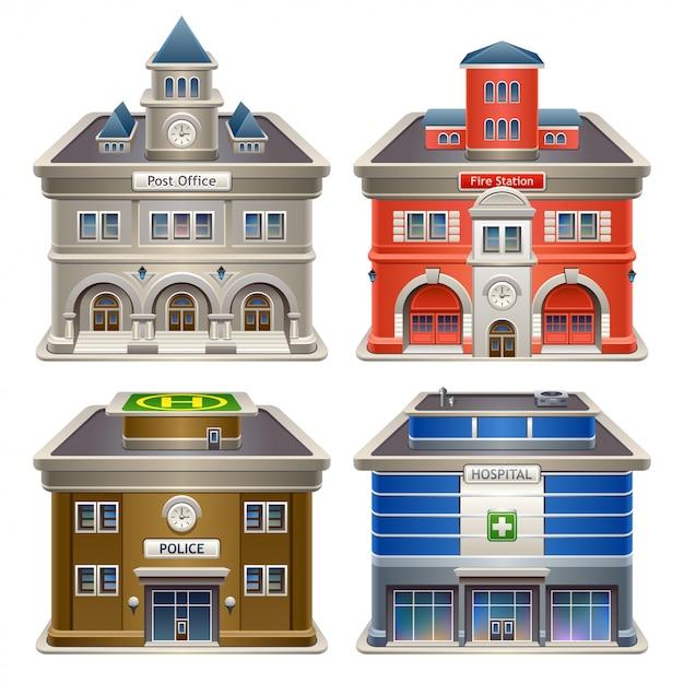 建物 Premiumベクター