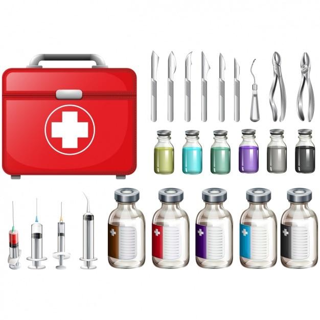 Коллекция медицинских элементов Premium векторы