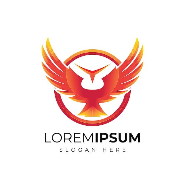 抽象的な翼のロゴデザイン Premiumベクター