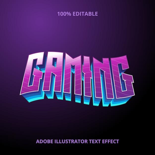 Эффект стиля игрового текста премиум Premium векторы