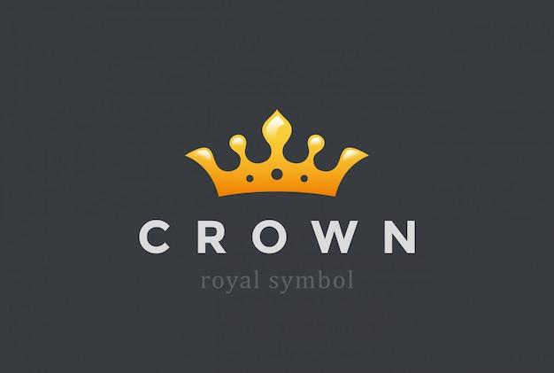 Значок короля короны логотип. Бесплатные векторы