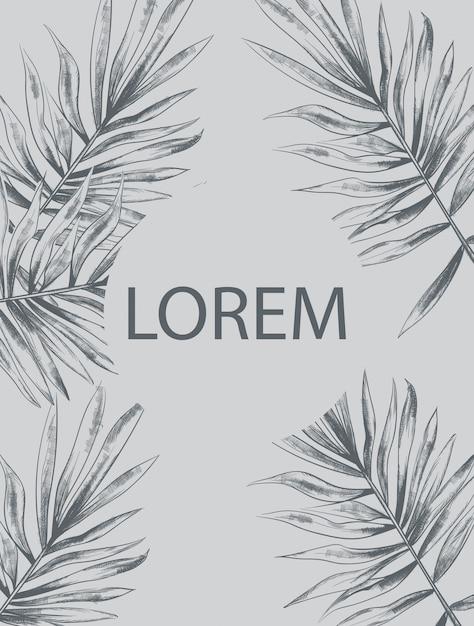 Пальмовые листья летом Premium векторы