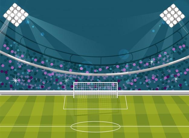 サッカーフィールドの背景 Premiumベクター