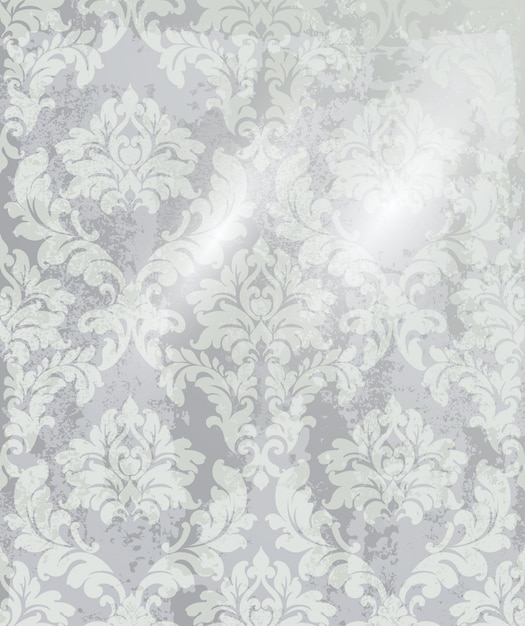 ビンテージ飾りの背景。バロック様式のロココ調の質感の高級デザイン。ロイヤルテキスタイルの装飾 Premiumベクター