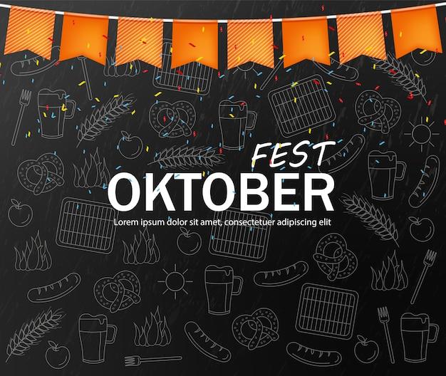 Плакат приветствия октября Premium векторы