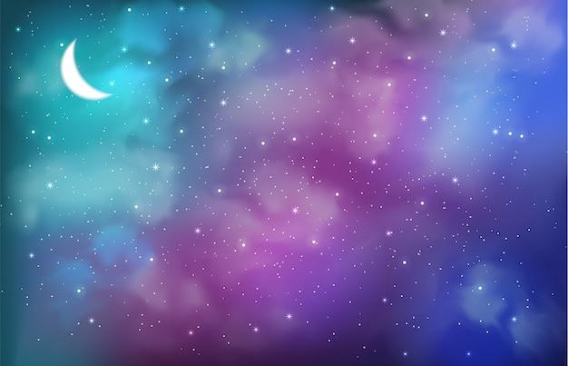 抽象的な色と宇宙の背景 Premiumベクター