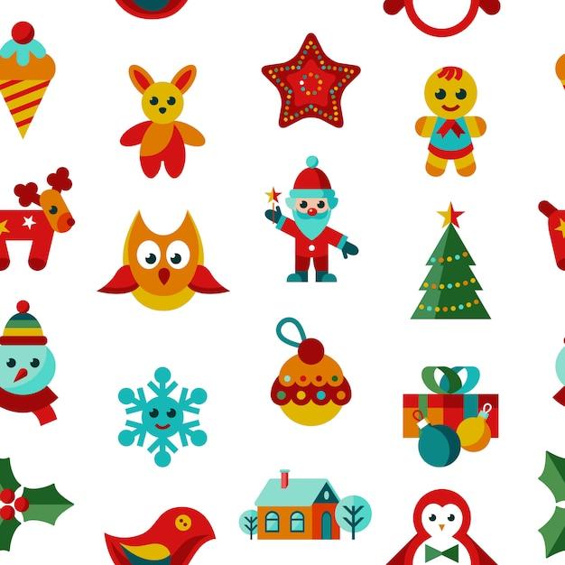 Коллекция праздничных и рождественских и рождественских иконок Premium векторы