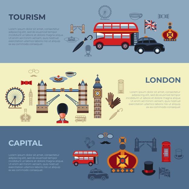 Лондонские иконы Premium векторы