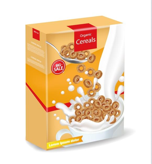 Органический ржаной зерновой пакет макет Premium векторы