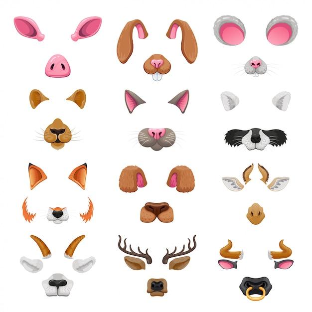 Набор видео-эффектов для животных Premium векторы