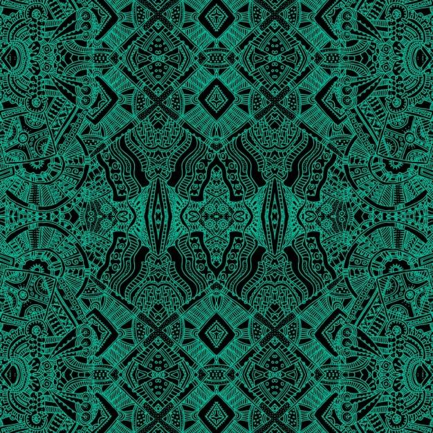 アステカの形状の緑の背景 無料ベクター