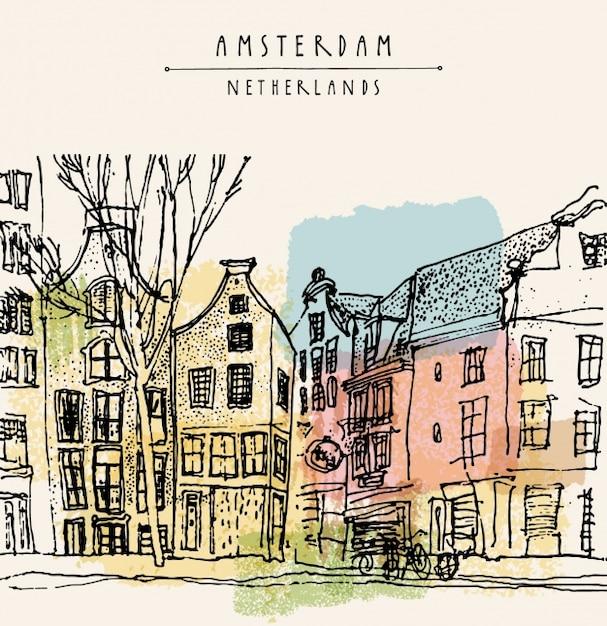 Дизайн фона амстердам Бесплатные векторы