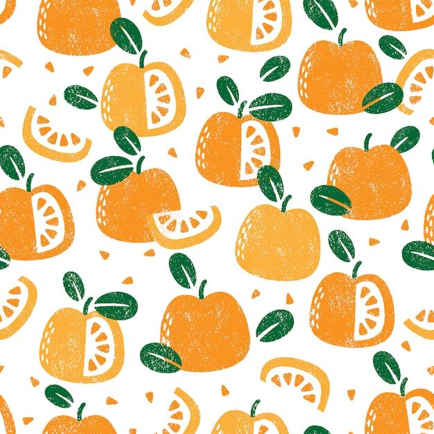 Бесшовный фон с фруктами Premium векторы
