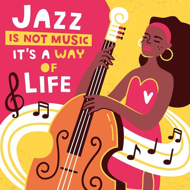 ジャズ音楽祭のポスターとバナーのデザインテンプレート。 Premiumベクター