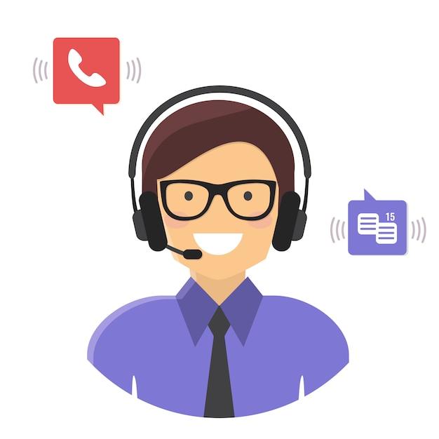 Служба поддержки клиентов Premium векторы