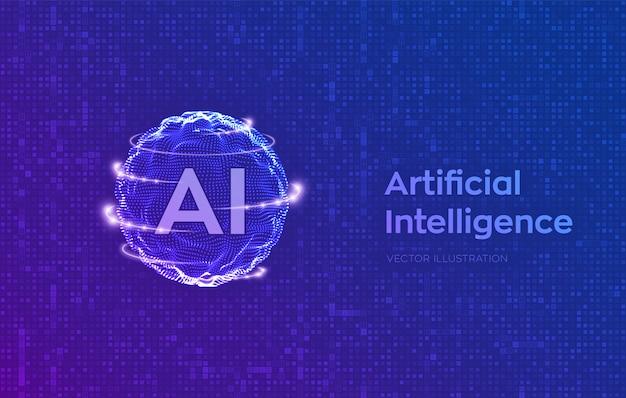 人工知能と機械学習のコンセプト。 Premiumベクター