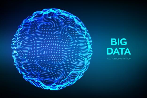 ビッグデータ科学の抽象的な背景。 Premiumベクター