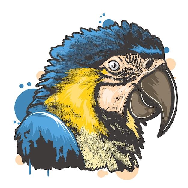 Полная цветная птица Premium векторы