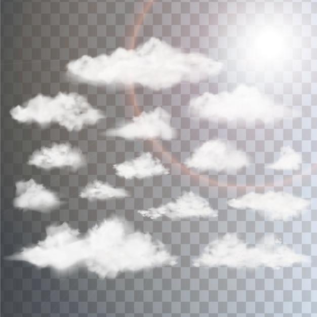 雲のデザインコレクション Premiumベクター