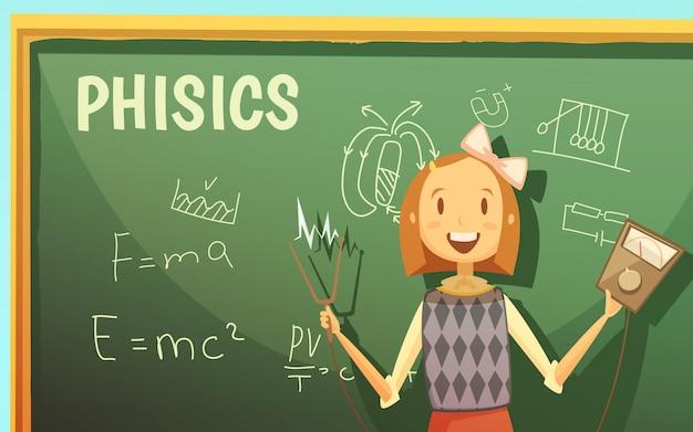 小学校のための物理学の授業 無料ベクター