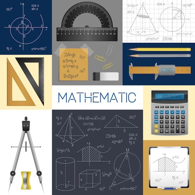数学科学の概念 無料ベクター