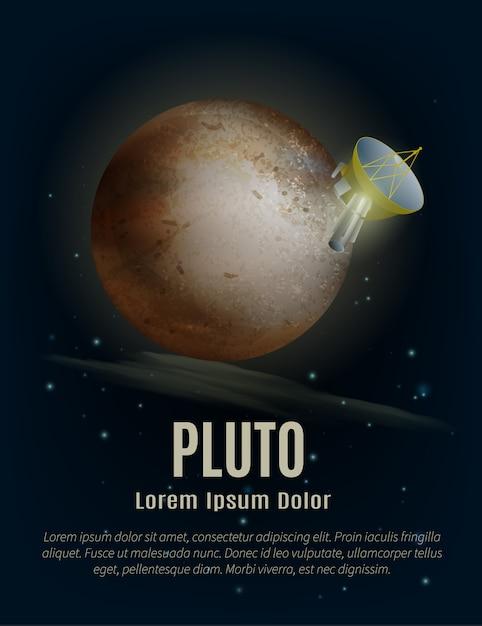 Плакат планеты плутон Бесплатные векторы
