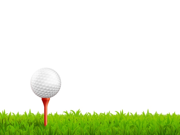 ゴルフのリアルなイラスト 無料ベクター