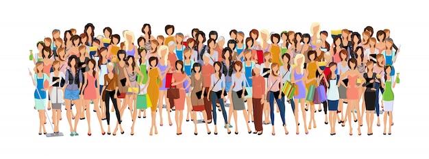 女性のグループ 無料ベクター