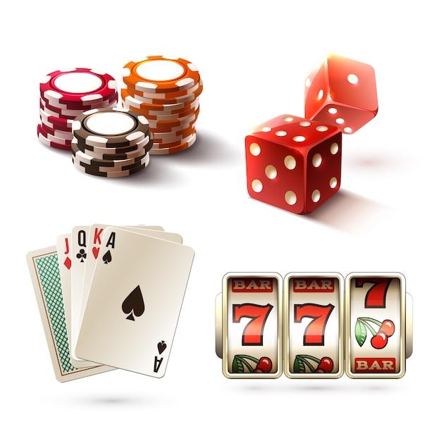 Элементы дизайна казино Бесплатные векторы
