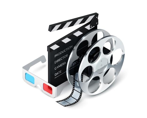 Концепция кино Бесплатные векторы