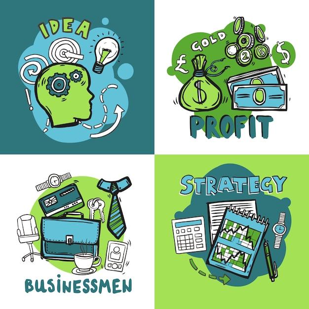 Концепция дизайна бизнеса Бесплатные векторы